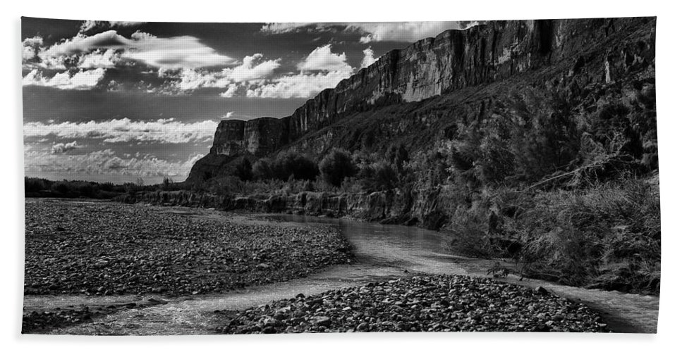 Black And White Bath Sheet featuring the photograph Big Bend National Park by Renee Hong