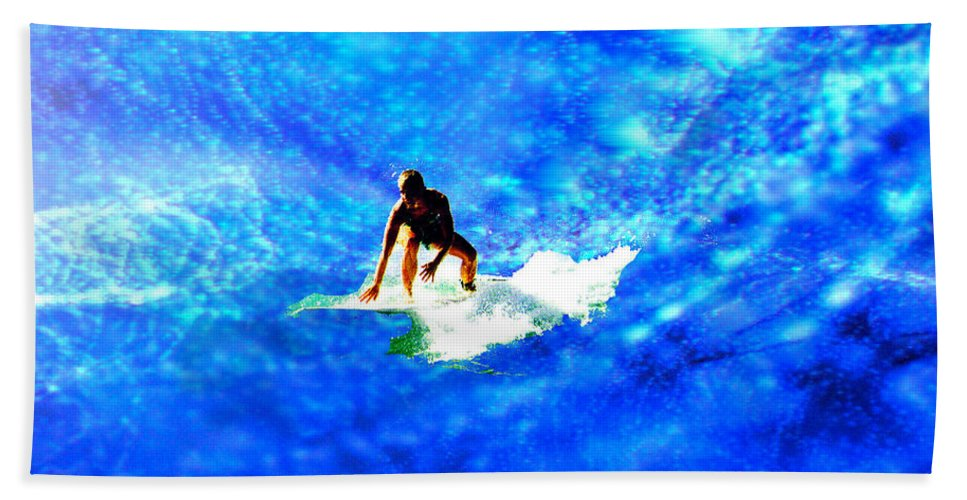 Big Bath Sheet featuring the digital art Big Blue by Seth Weaver
