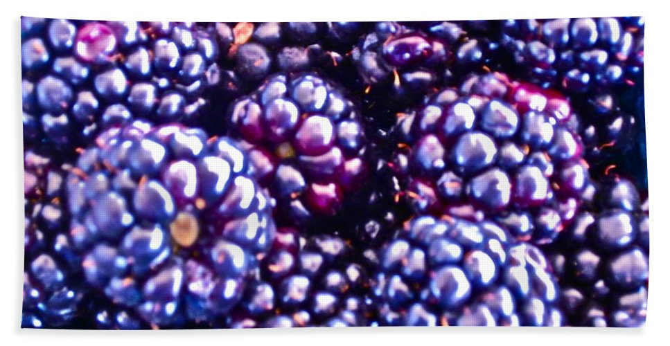 Boysenberry Photograph Hand Towel featuring the photograph Big Boys by Gwyn Newcombe