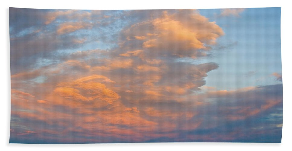 Sunset Hand Towel featuring the photograph Big Country Sunset Sky by James BO Insogna