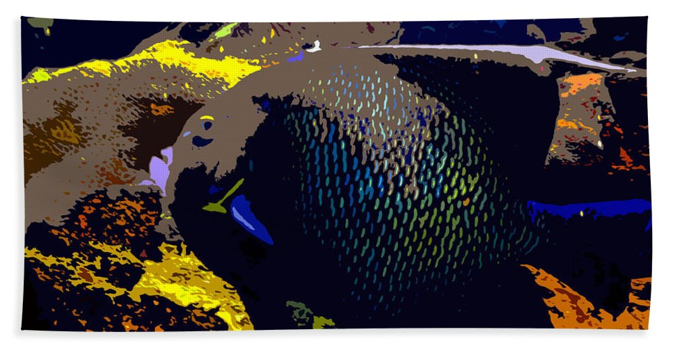 Fish Bath Sheet featuring the painting Big Fish by David Lee Thompson