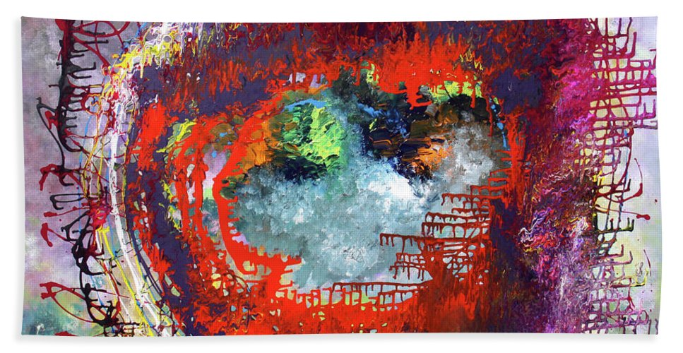 Fusionart Hand Towel featuring the painting Big Optic by Ralph White