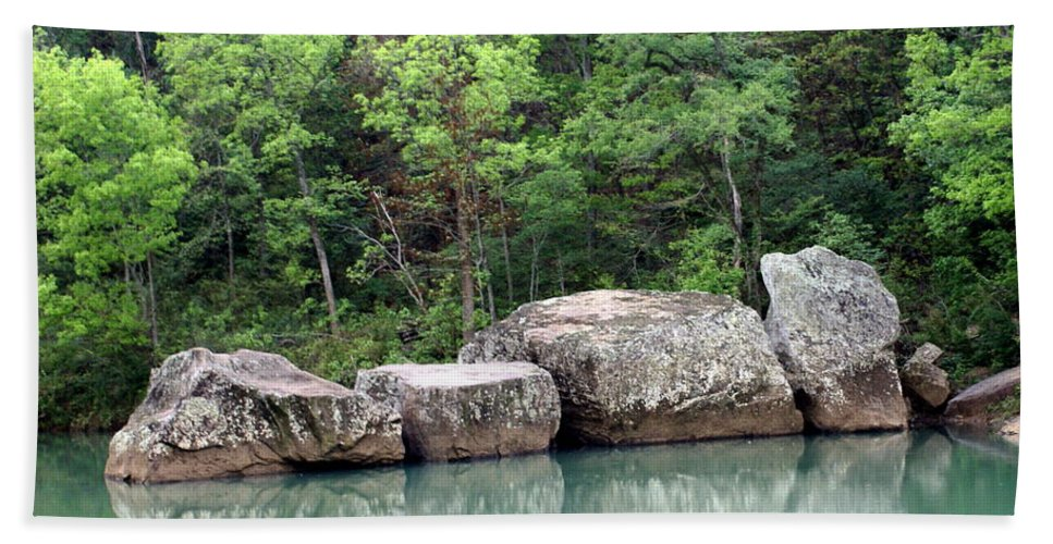 Ozarks Hand Towel featuring the photograph Big Piney Creek 1 by Marty Koch