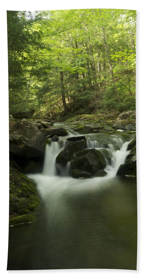 Landscape Bath Sheet featuring the photograph Big Pup Falls 1 by Michael Peychich