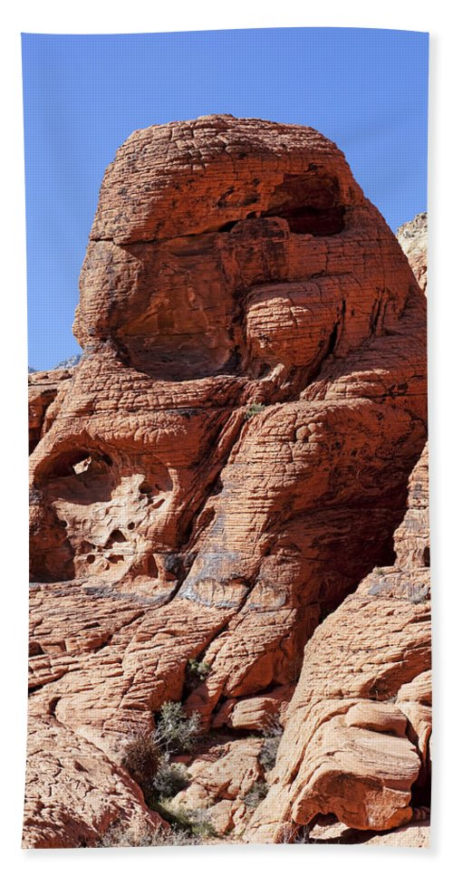 Rocks Hand Towel featuring the photograph Big Red by Kelley King