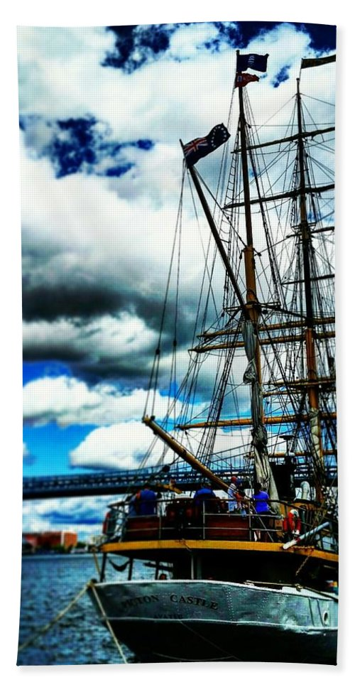 Big Ships Festival Hand Towel featuring the photograph Big Ships by Adam Milsted