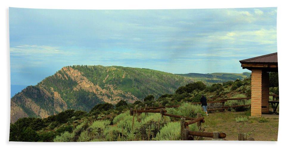 Black Canyon Bath Sheet featuring the photograph Big Skies Of Colorado by Samantha Burrow