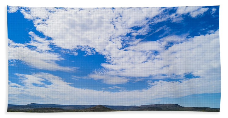 Sky Hand Towel featuring the photograph Big Sky In Pecos Valley by Craig David Morrison