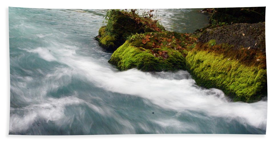 Big Spring Hand Towel featuring the photograph Big Spring Branch 2 by Marty Koch