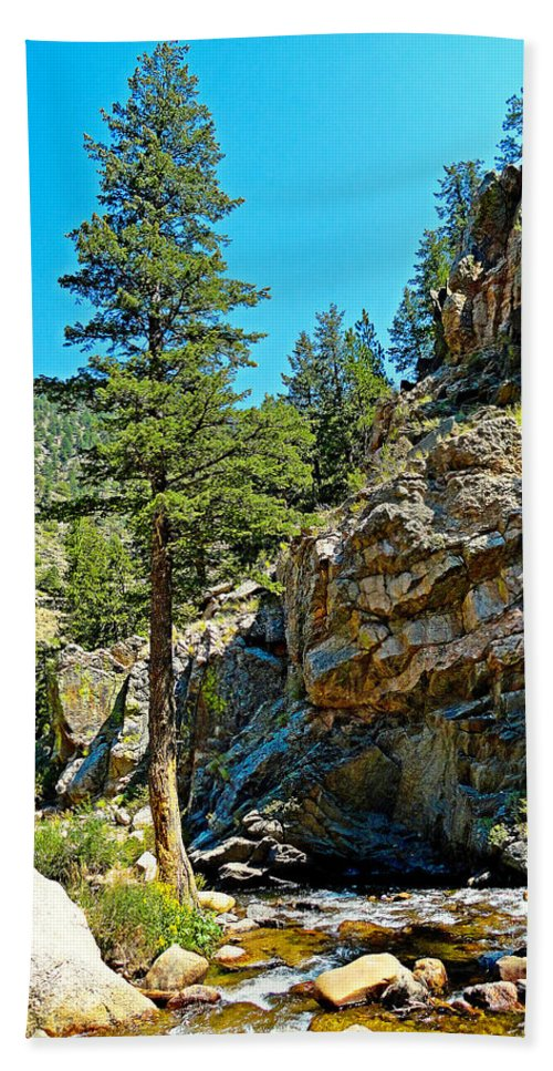 Big Thompson Canyon Bath Sheet featuring the photograph Big Thompson Canyon Pre Flood Moment 2 by Robert Meyers-Lussier