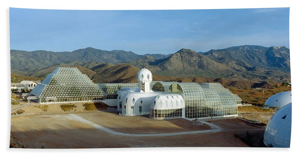 Photography Bath Sheet featuring the photograph Biosphere 2, Arizona by Panoramic Images