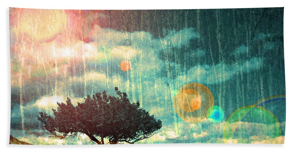 Light Hand Towel featuring the photograph Birch Dreams by Tara Turner