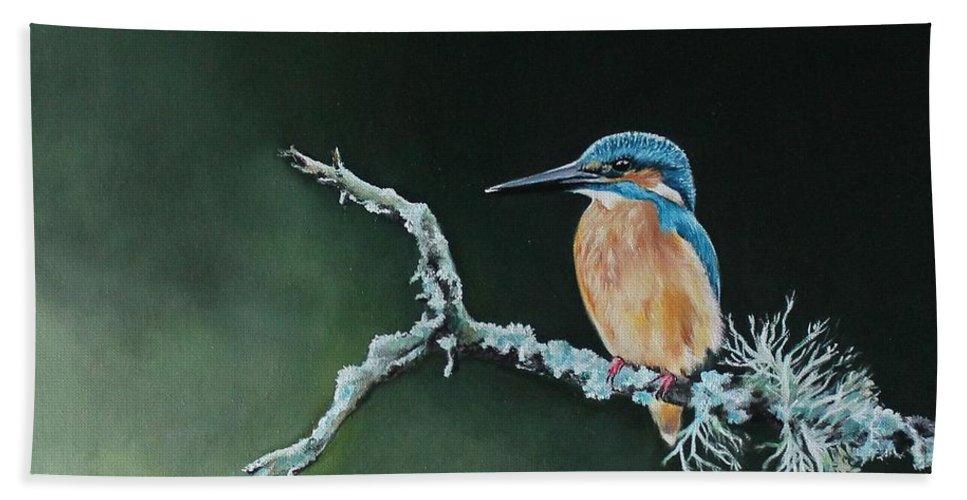 Bird Bath Sheet featuring the painting Bird N.10 by Rebecca Tecla