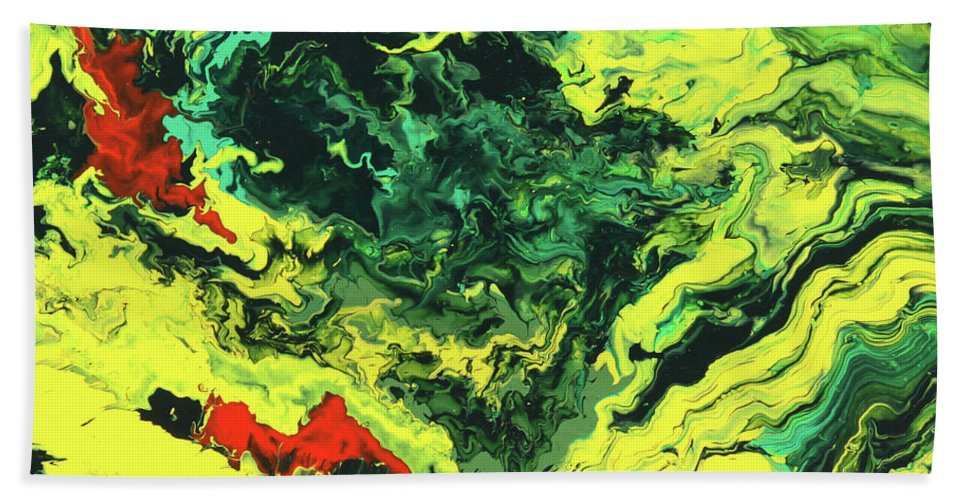 Fusionart Bath Sheet featuring the painting Bird Of Paradise by Ralph White