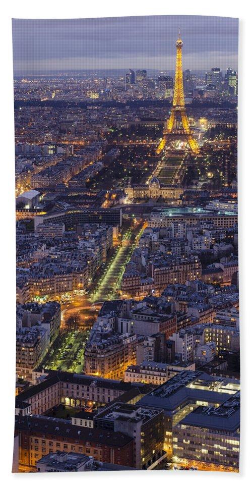 Paris Hand Towel featuring the photograph Bird's Eye On Paris 1 by Pablo Lopez