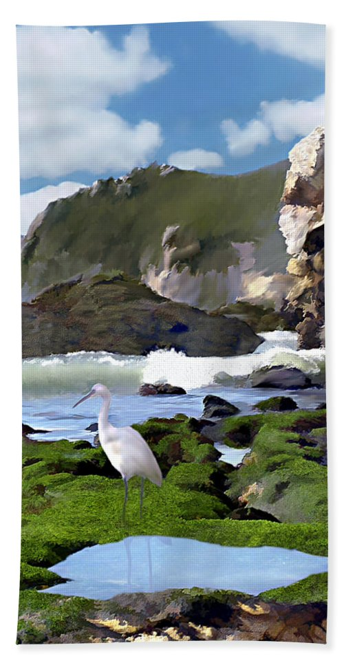 Ocean Hand Towel featuring the photograph Bird's Eye View by Kurt Van Wagner