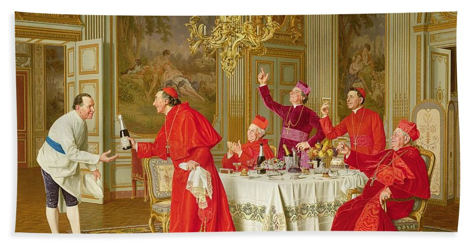 Louis Xiv's Apartments At Versailles Hand Towel featuring the painting Birthday by Andrea Landini