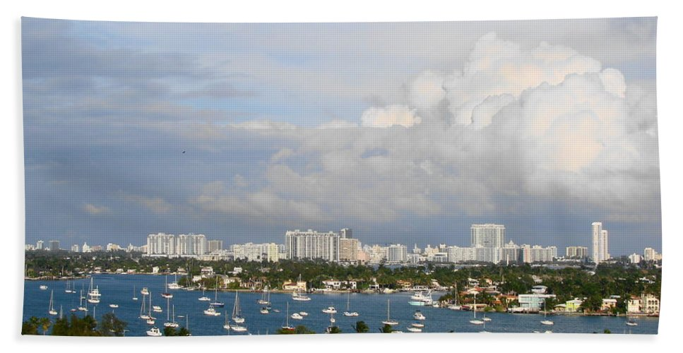 Miami Bath Sheet featuring the photograph Biscayne Bay by Margaret Bobb