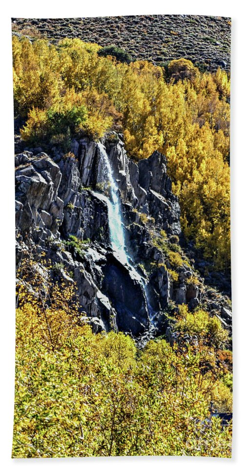 Bishop Bath Sheet featuring the photograph Bishop Creek Falls by Tommy Anderson
