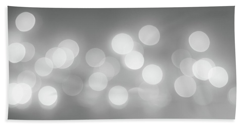 Terry D Photography Bath Sheet featuring the photograph Black And White Circle Abstract by Terry DeLuco
