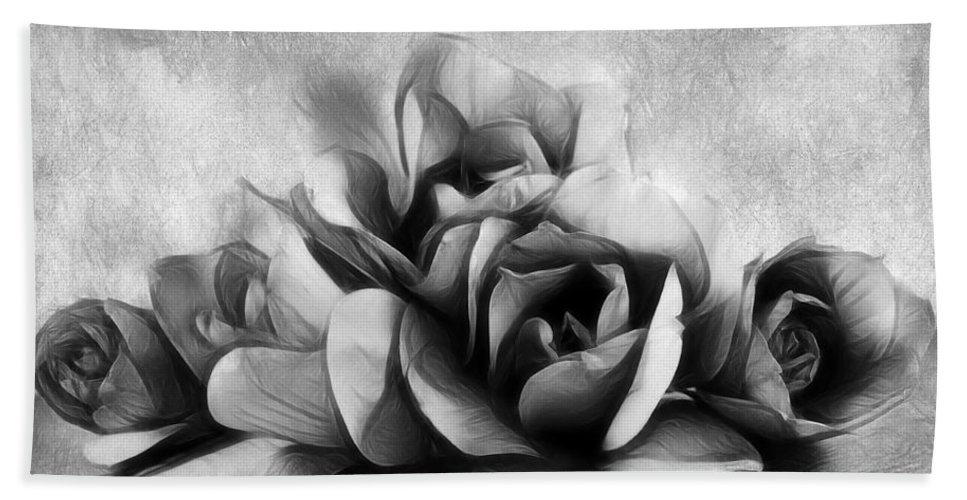 Magnolia Hand Towel featuring the photograph Black And White Is Beautiful by Georgiana Romanovna