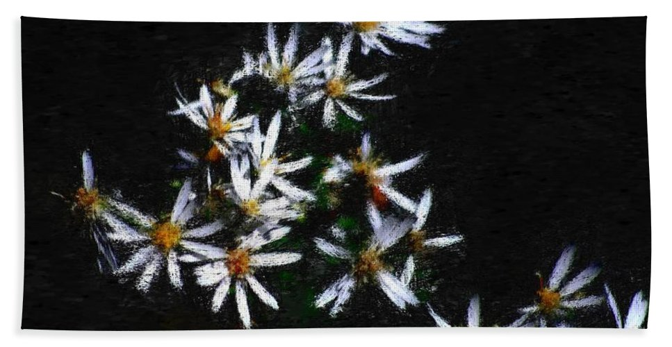 Digital Photograph Hand Towel featuring the digital art Black And White Study II by David Lane