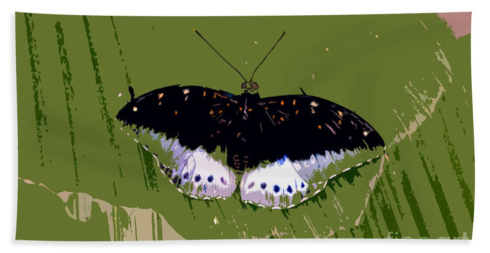 Butterfly Hand Towel featuring the photograph Black Butterfly by David Lee Thompson