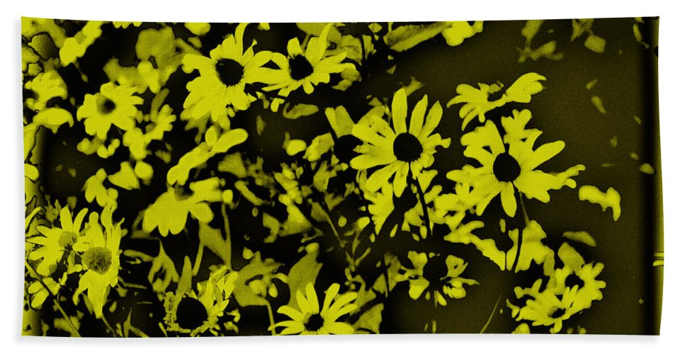 Flowers Bath Sheet featuring the photograph Black Eyed Susan's by Bill Cannon