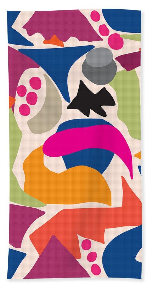 Fish Hand Towel featuring the digital art Black Fish by Ildiko Sipos