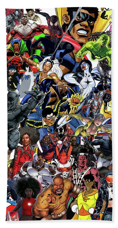 Black Heroes Matter Bath Towel featuring the mixed media Black Heroes Matter by Nic The Artist