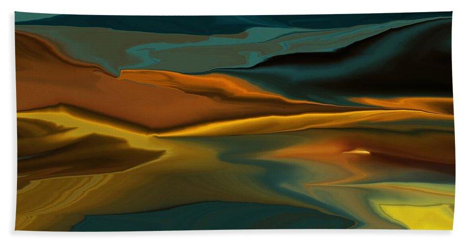 Fine Art Bath Towel featuring the digital art Black Hills Abstract by David Lane