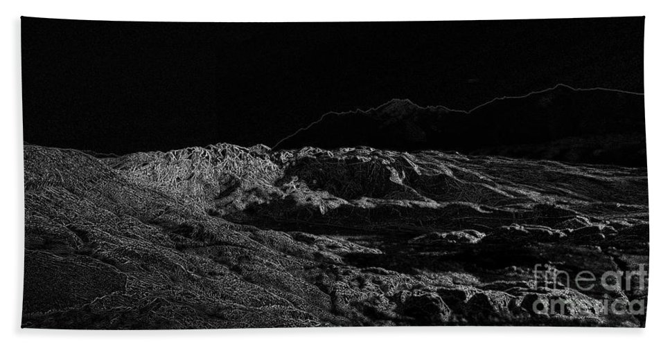 Black Ice Bath Towel featuring the photograph Black Ice by Ron Bissett