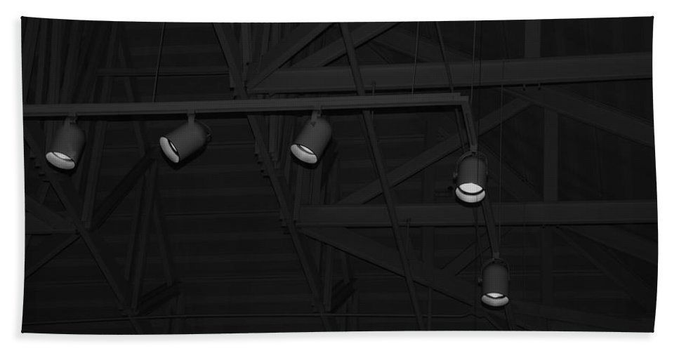 Black And White Bath Towel featuring the photograph Black Lights by Rob Hans
