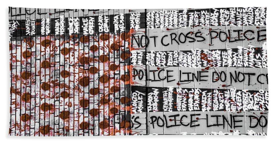 Black Lives Matter Bath Sheet featuring the photograph Black Lives Matter by Kennard Reeves