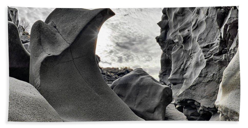 Balance Hand Towel featuring the photograph Black Magic Canyon by Leland D Howard