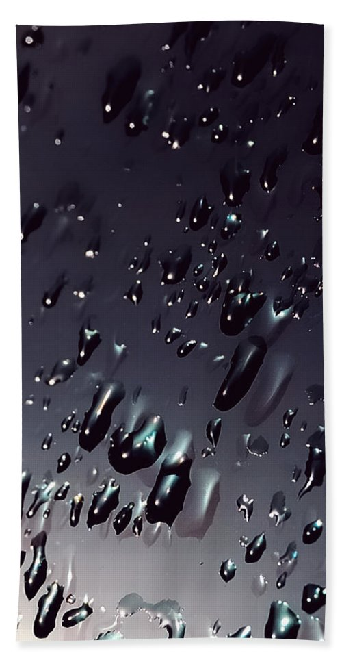 Abstracts Hand Towel featuring the photograph Black Rain by Steven Milner