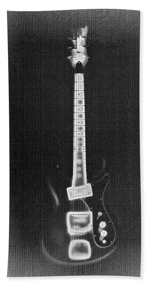 Guitar Hand Towel featuring the photograph Black Thunder by Bill Cannon
