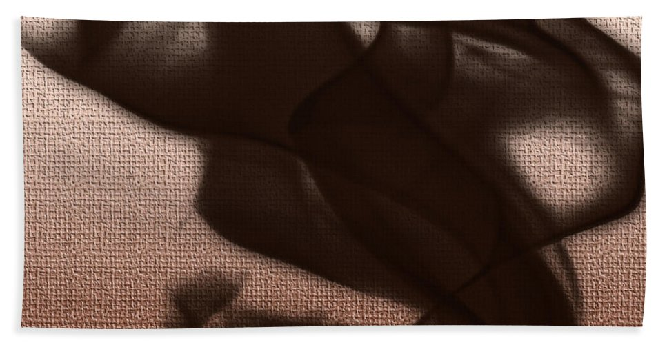 Clay Hand Towel featuring the digital art Black Vector Apparition by Clayton Bruster