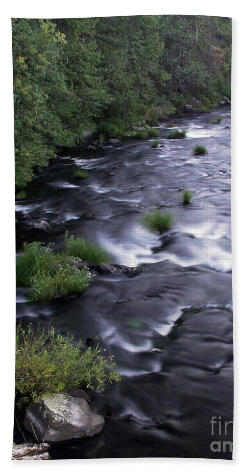 River Bath Towel featuring the photograph Black Waters by Peter Piatt