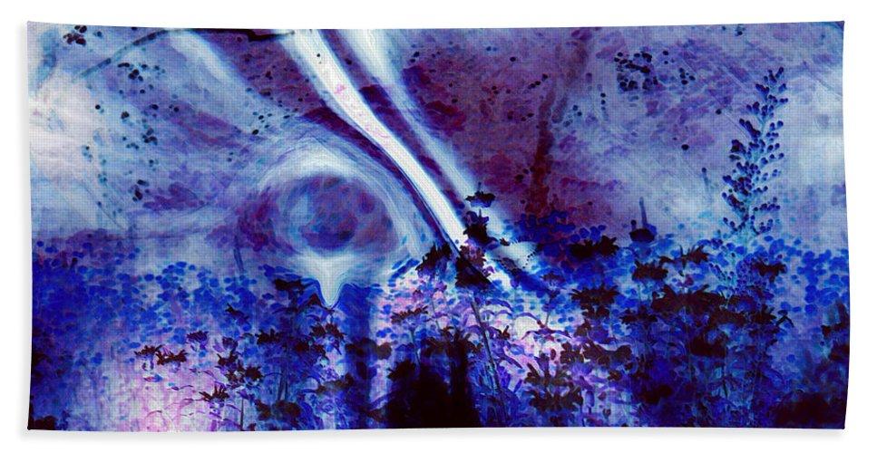 Abstracts Bath Towel featuring the digital art Blackest Eyes by Linda Sannuti
