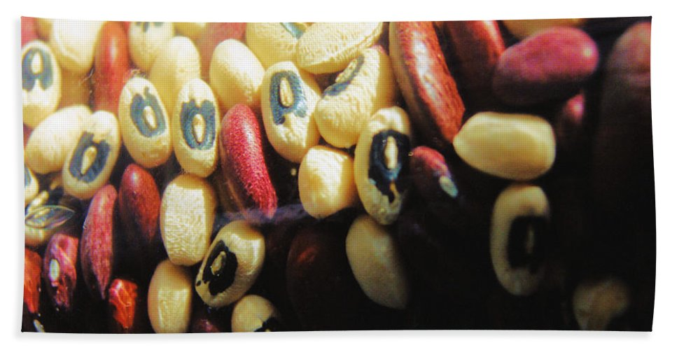 Still Life Hand Towel featuring the photograph Blackeyes And Kidneys by Jan Amiss Photography