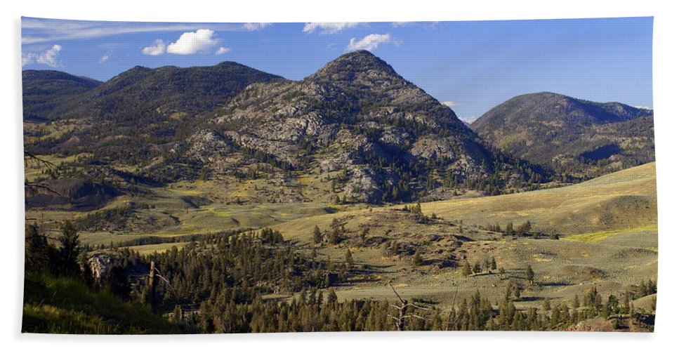 Yellowstone National Park Bath Sheet featuring the photograph Blacktail Road Landscape 2 by Marty Koch