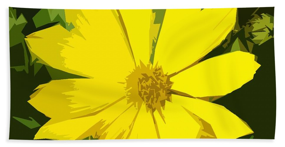Flowers Hand Towel featuring the photograph Blaze Of Yellow by Patrick J Murphy