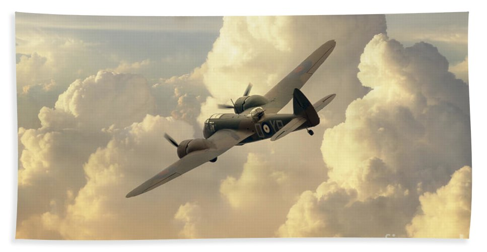 Bristol Bath Towel featuring the digital art Blenheim Bird by J Biggadike