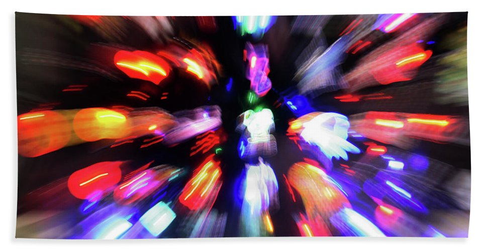 Decorator Art Hand Towel featuring the photograph Blinky The Star by Ric Bascobert