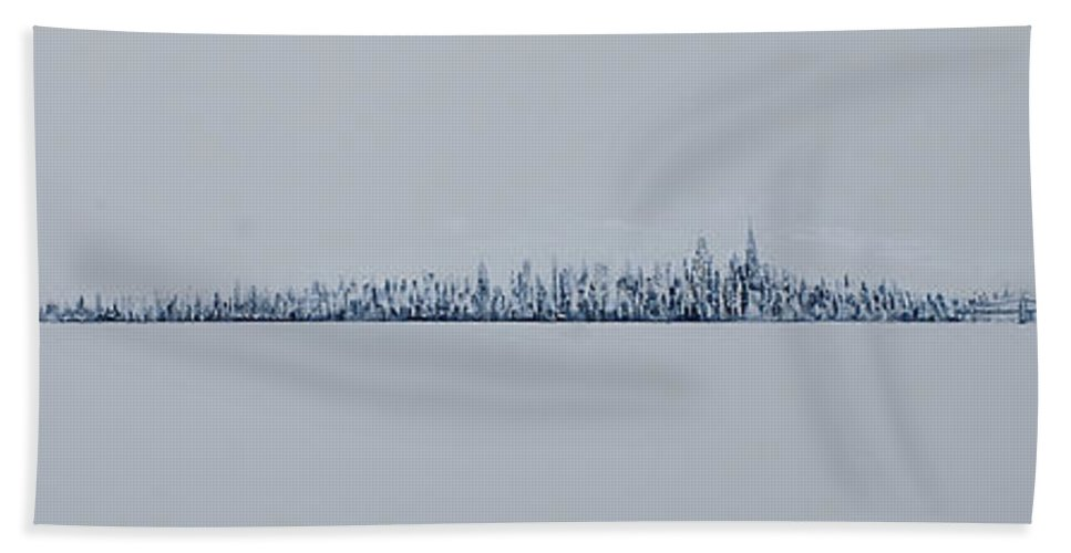 Jack Bath Towel featuring the painting Blizzard 2011 by Jack Diamond