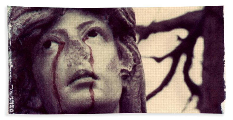 Polaroid Hand Towel featuring the photograph Blood Is The New Black by Jane Linders