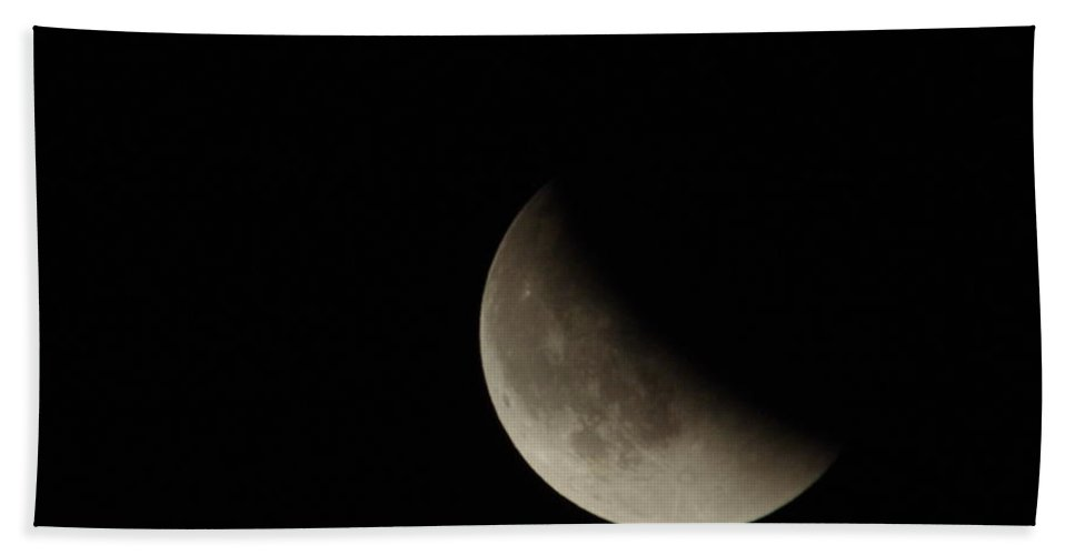 Moon Hand Towel featuring the photograph Blood Moon by Jeff Swan