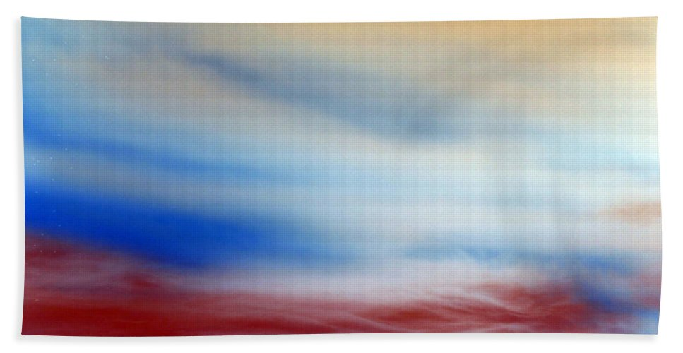 Heaven Hand Towel featuring the photograph Bloody Clouds by Munir Alawi