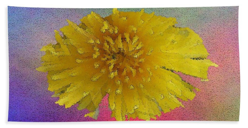 Bloom Hand Towel featuring the digital art Blooming 3 by Tim Allen